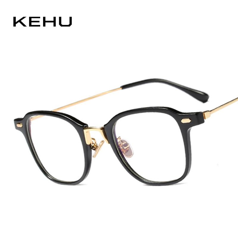 KEHU Lady Square Simple Frame Retro Cateye Eyewear Glasses Large ...