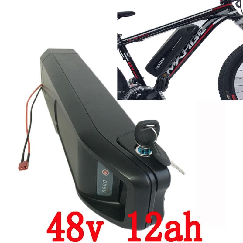 ABD, AB YOK Vergi 48 V hailong elektrikli Bisiklet Pil 48 V 12AH 54.6 V 2A şarj ile samsung cell Lithiumion Bisiklet Pil Paketi kullanın