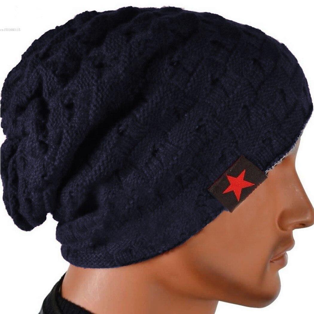 Men's Skullies & Beanies Honest Men Women Knit Oversized Thin Slouchy Slouchy Long Beanies Hat Warm Winter Ski Hat Caps Hip Hop Skull Girls Sombrero De Invierno