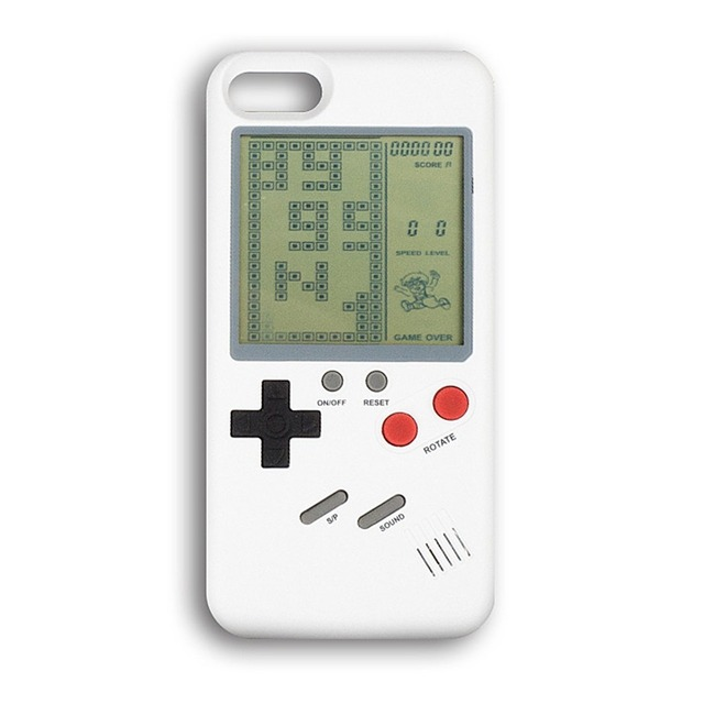 US $9 99 |Best Gift Retro Classic Tetris Console Handheld Game Players Play  Tetris Game Phone Case Gift For Kid For Iphone 6 7 8/S/ Plus/X-in Handheld