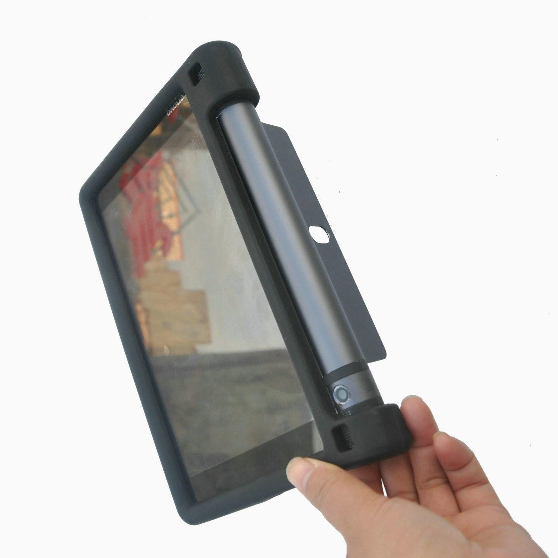 MingShore For Lenovo Yoga Tab 3 8 Inch  Shockproof Tablet Cover Model YT3-850M YT3-850F YT3-850L Silicone Rugged Case BLACK 8 new original usb charging port plug flex cable for lenovo yoga tablet 3 yt3 850f yt3 850 yt3 850m p5000 usb fpc v1 2 usb cable