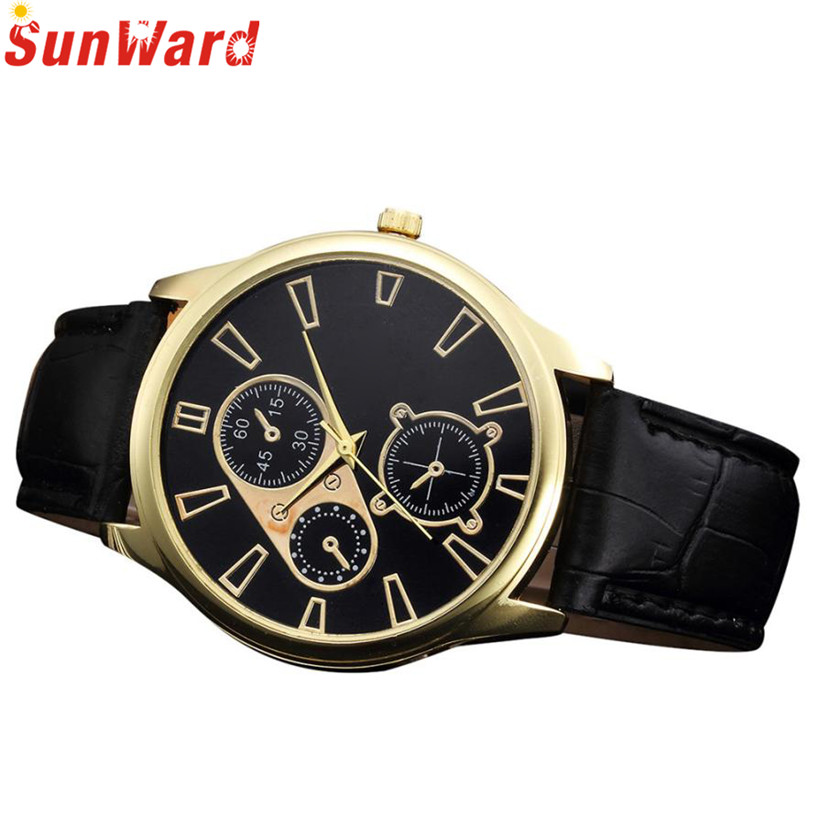 Watch Men Retro Design Leather Band Analog Alloy Quartz Wristwatch Bangle Bracelet relojes hombre 2017 erkek kol saati relogio 2017 relogio feminino erkek kol saati womens bracelet bangle enamel stainless steel cuff wrist analog quartz watch june8