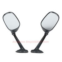 1 Pair Black Motorcycle Rear View Side Mirrors For Suzuki GSX 650F Katana 2008 2009 Rearview