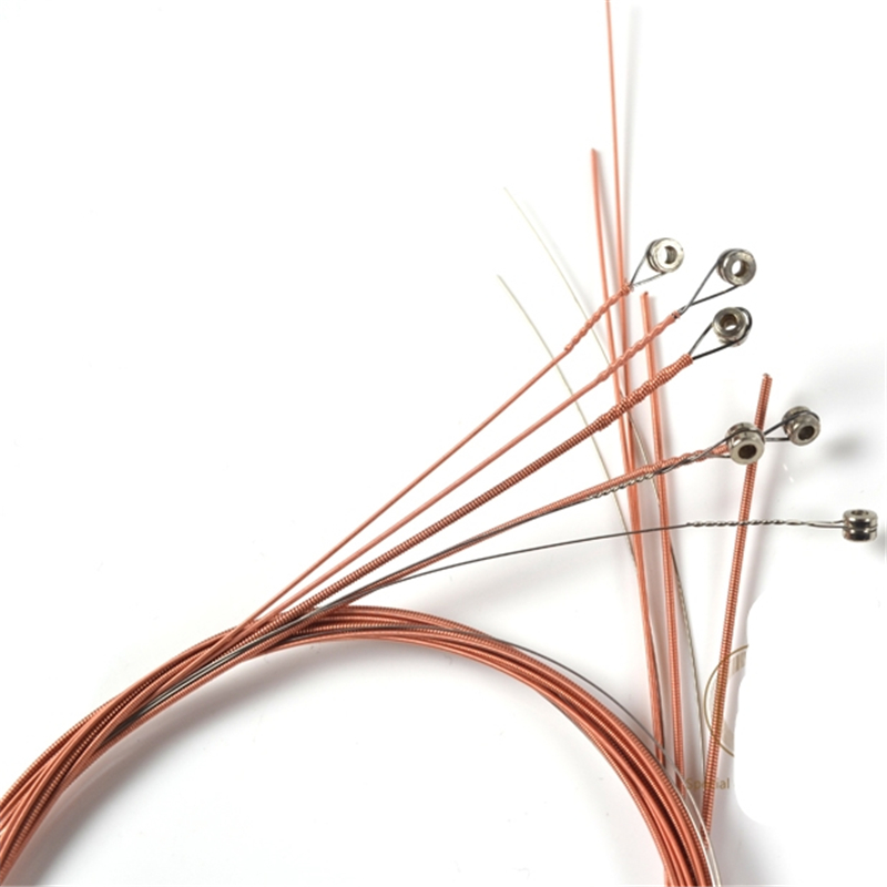 Amola Acoustic Guitar Strings set 010 011 012 Pure Copper  010-047 Wooden Acoustic Guitar Strings 6pcs/set