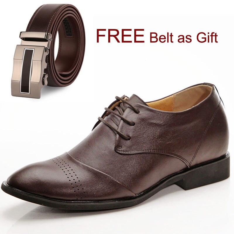 Мужская деловая обувь Для мужчин кожа нарядные туфли с острым носком обувь в стиле дерби с Бесплатный Пояс в подарок