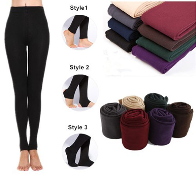 YSDNCHI Super Elastic Women Pants Casual Warm Faux Velvet Leggings Knitted Thick Slim Spring Fitness Leggins