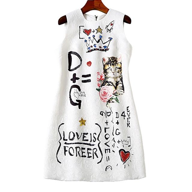 Vestido jacquard corto de alta calidad verano vintage 2