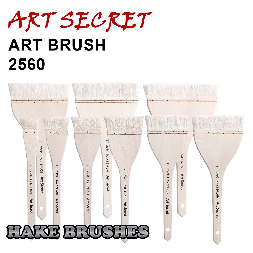 2560 High Quality Goat Hair Wooden Handle Copper Wire Twisted Art Paint Brushes Artistic Painting Brush For Watercolor Drawing