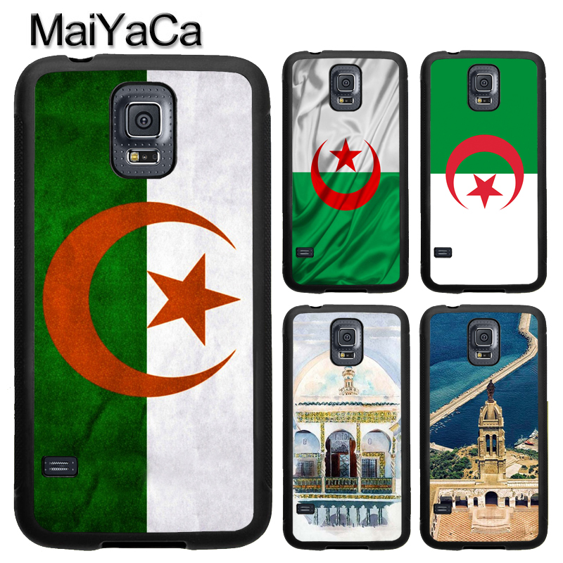 MaiYaCa Algeria Flag TPU Case For Samsung Galaxy S9 S8 Plus S4 S5 S6 S7 Edge Note 4 Note 5 Note 8 Cover Back Case