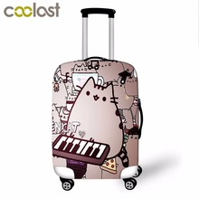 Pusheen Cat High Elastic Luggage Protective Cover Suitcase Cover for 18-28 Inch Luggage Fashion Baggage Set Travel Accessories(China)