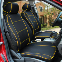 High Quality Special Breathable Car Seat Covers For Citroen DS C4 C5 C2 C3 Drain BLACK