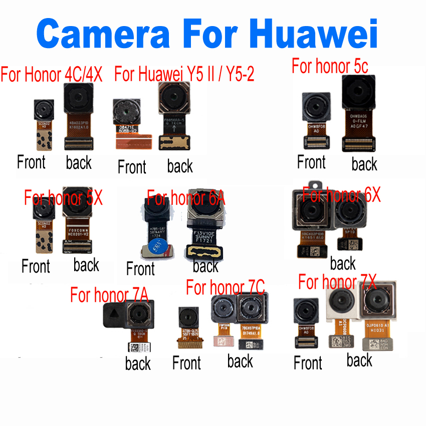 Original Front & Big Rear Back Camera Flex Cable For Huawei Honor 4c 4x 5C 5X 6A 6X 7C 7A 7X / Y5 II / Y5-2 Phone Parts