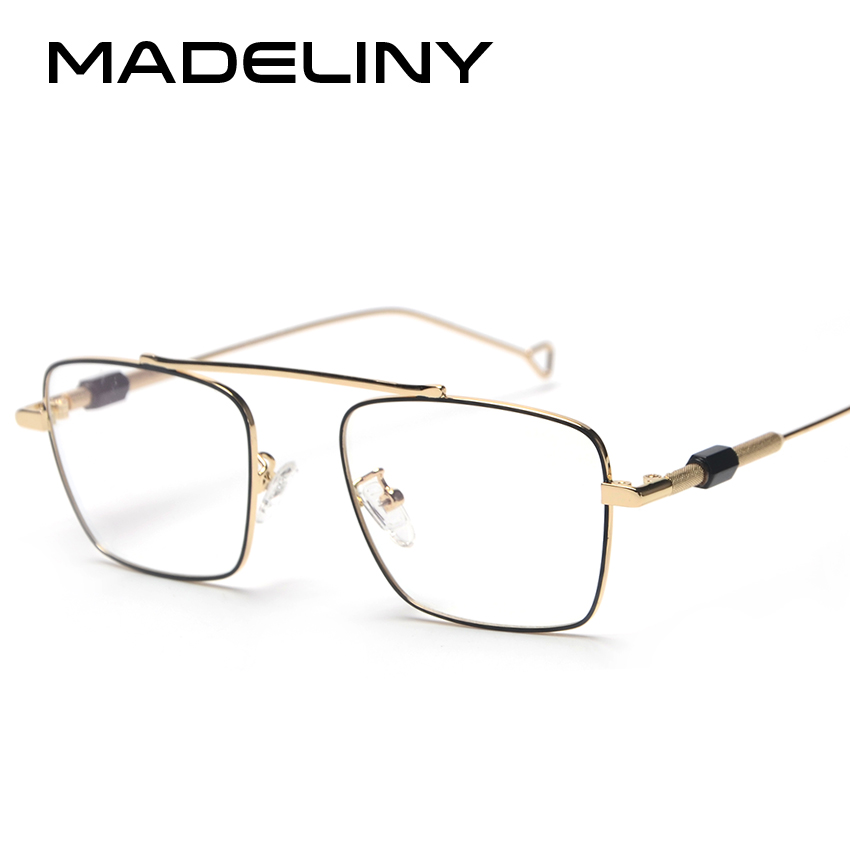 MADELINY 2018 Fashion Women Square Eyeglasses Frame NEW Classic Computer Radiation Protection Men Glasses Goggles MA384