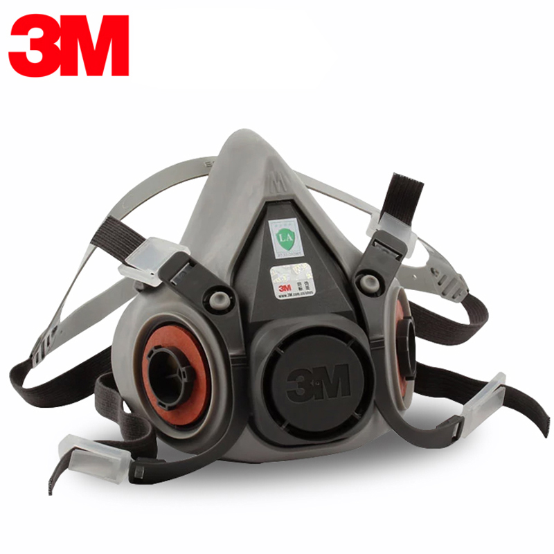 Image 3 - 9in1 3M 6200 Half Facepiece Gas Mask Respirator With 6001/2091 Filter Fit Painting Spraying Dust Proof-in Masks from Security & Protection