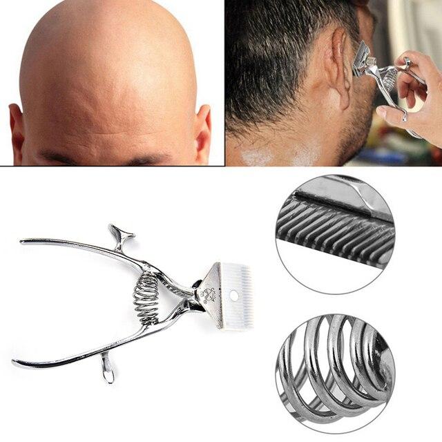 1 Pc Alat Tangan Gunting Rambut Tukang Cukur Manual Logam Portabel Pemangkas  Cutter Tidak Ada Listrik 2a86cc5d7f