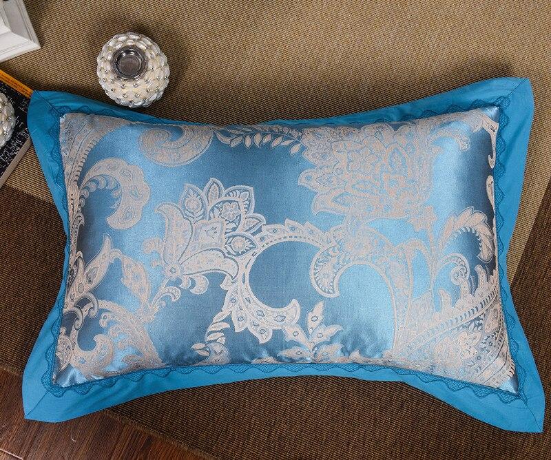 4 Uds de seda satén de algodón de lujo conjunto de ropa de cama de jacquard 22 estilos funda nórdica hoja de cama fundas de almohada reina rey tamaño de ropa de cama - 6