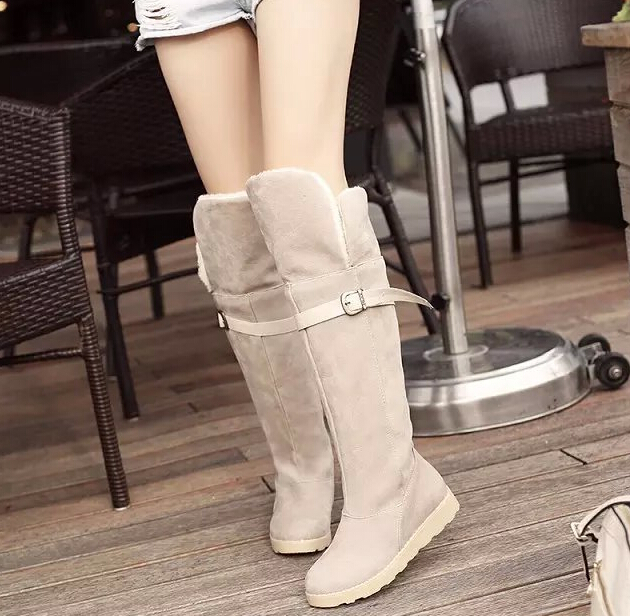 aa5c9c54561 Womens Over Knee Thigh High Slouch Suede Flat Boots Choose Size-in Ankle  Boots from Shoes on Aliexpress.com