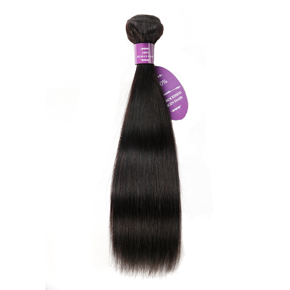 1 Bundle Queenlike Hair Products Peruvian Straight Hair Weave Bundles Non Remy Extensions Natural Color Human Hair Bundles