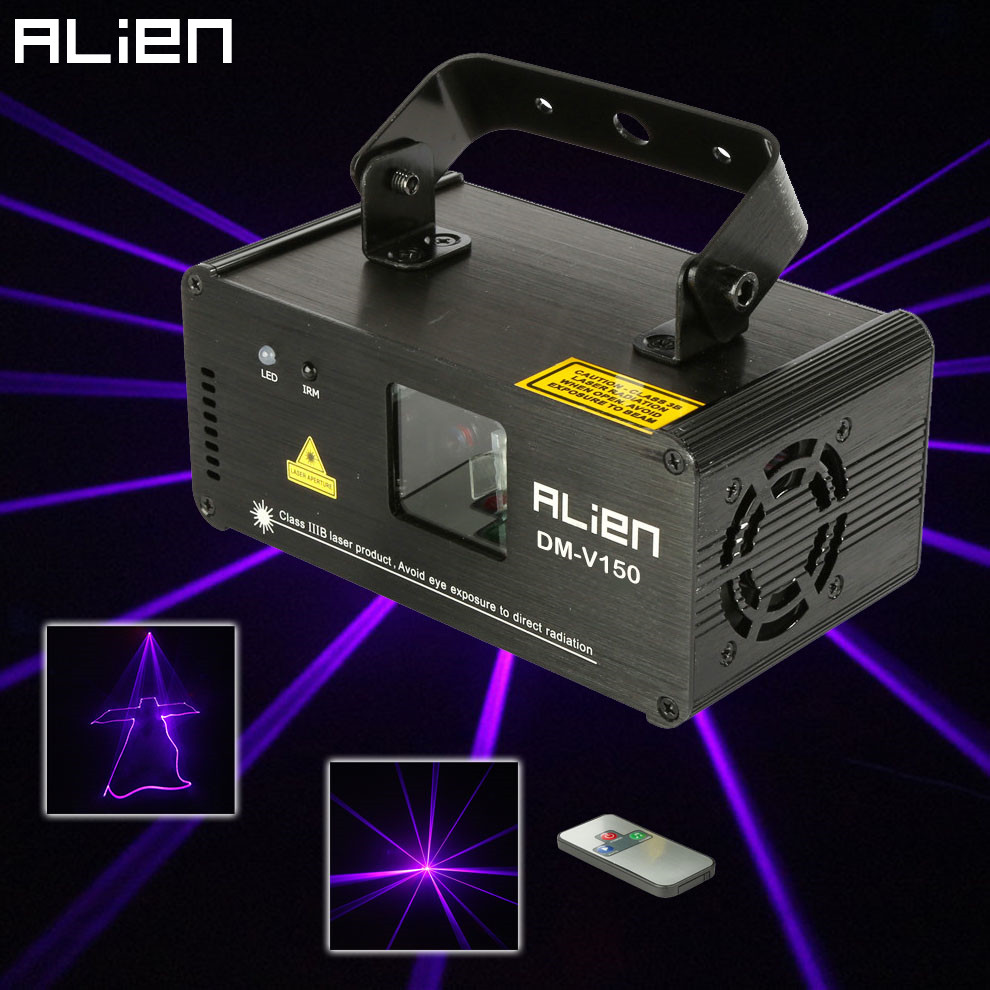 Remote 150mw Violet Purple Laser Line Scanner Projector Professional Stage Lighting Effect DMX512 DJ Xmas Party Disco Show Light