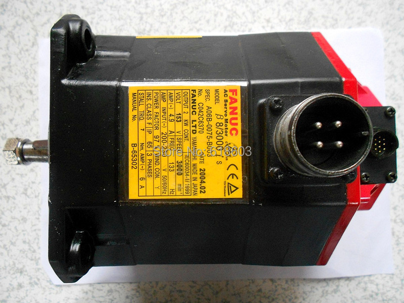 FANUC alpha servo spindle motors A06B-0075-B003 for 100% tested ok fanuc servo drive amplifier a06b 6093 h102 a06b 6093 h101 beta series svu 12 12 amp