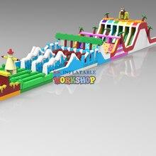 KK hot selling Inflatable dry land adventure for kids цены онлайн