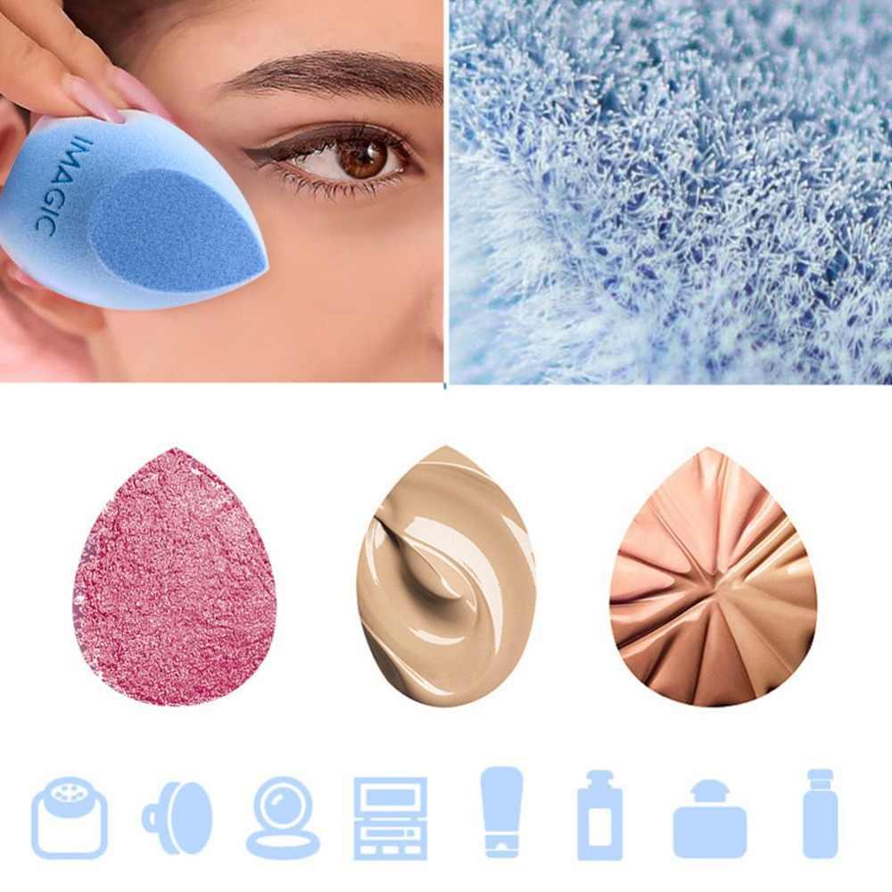 IMAGIC Sopro Cosmético Microfibra Fluff Superfície de Veludo Maquiagem Esponja Esponja de Pó Fundação Corretivo Creme Maquiagem Liquidificador