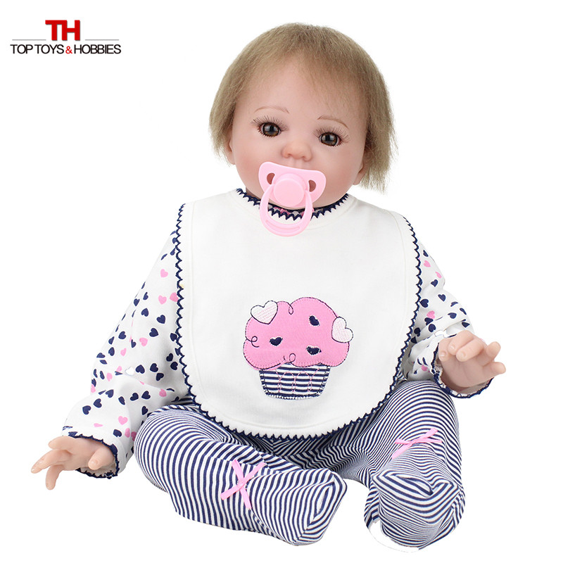 55 cm réaliste bambin poupée Reborn bébé fille avec sucette magnétique Silicone Vinly Bebe poupées enfants nouvel an cadeau Juguetes - 2