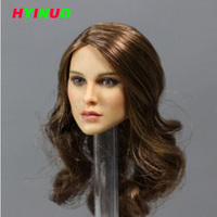 1/6 Scale Female Girl Lady head Sculpt KIMI TOYS KT008 Head play Long Curly Hair F 12 Inches Phicen HT Body Figure