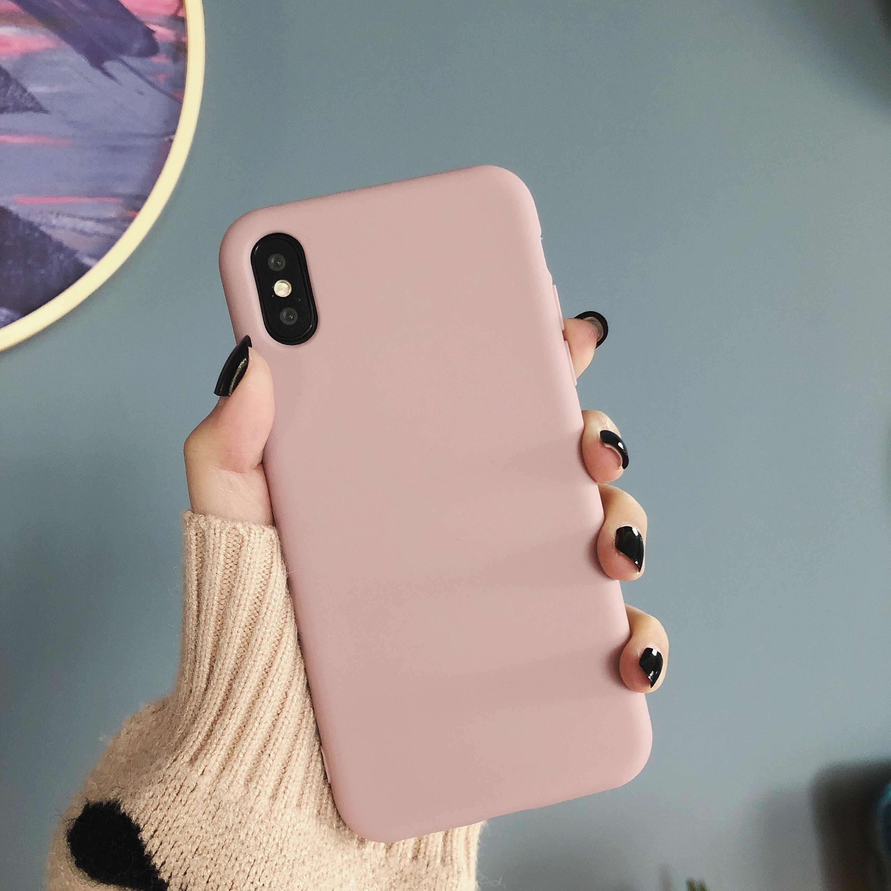 HYSOWENDLY סוכריות צבעים מקרה טלפון Redmi 6 הערה 7 רך TPU סיליקון מכסה נייד אביזרי לxiaomi 8 לייט 9SE לערבב 2 2s