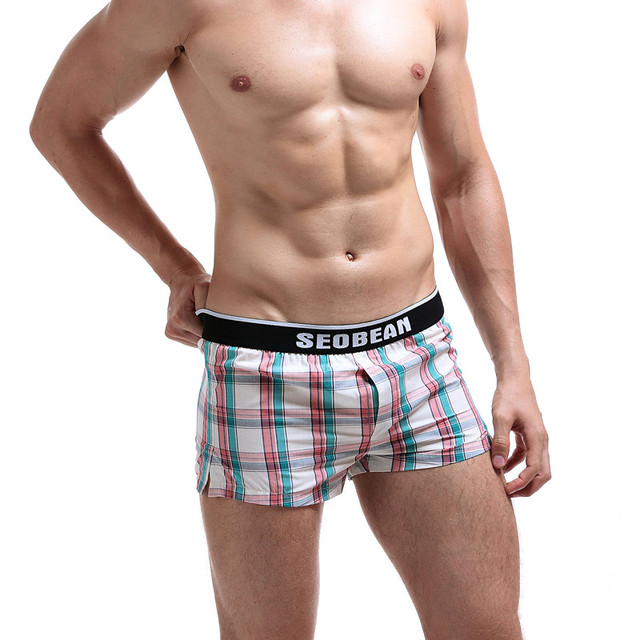 New Seobean men's short 100% cotton male boxer Mesh Household Shorts Quick-drying Casual Shorts