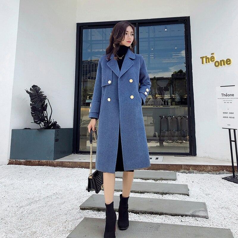 Laine Droite Lâche 3 Nouvelle Longue 1 Et Mme Automne Femelle Mode Manteau De Populaire Section D'hiver Femmes Épaississement 2 OwqFE