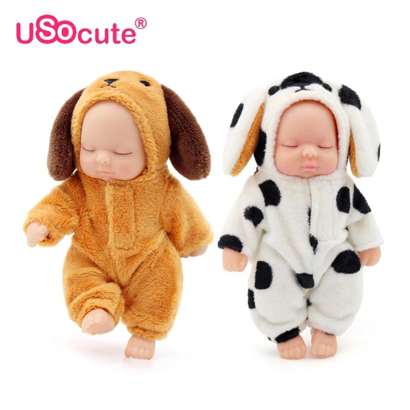 kawaii lifelike baby dolls plush Bjd bebe reborn toys key Pendant toy for children girls Christmas gift pvc kids baby born toy kawaii baby dolls