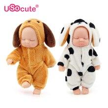 Kawaii réalistes bébé poupées en peluche Bjd bebe reborn jouets clé Pendentif jouet pour enfants filles De Noël cadeau pvc enfants bébé né jouet