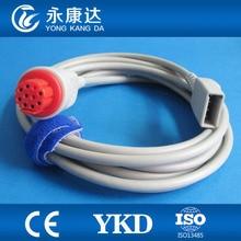 Datex-Ohmeda to Utah IBP Transducer Cable,Round 10pin>Din 2.0 4 pin