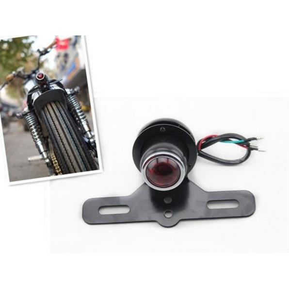 La cola de la motocicleta luz de la vieja escuela estilo escopeta para accesorio