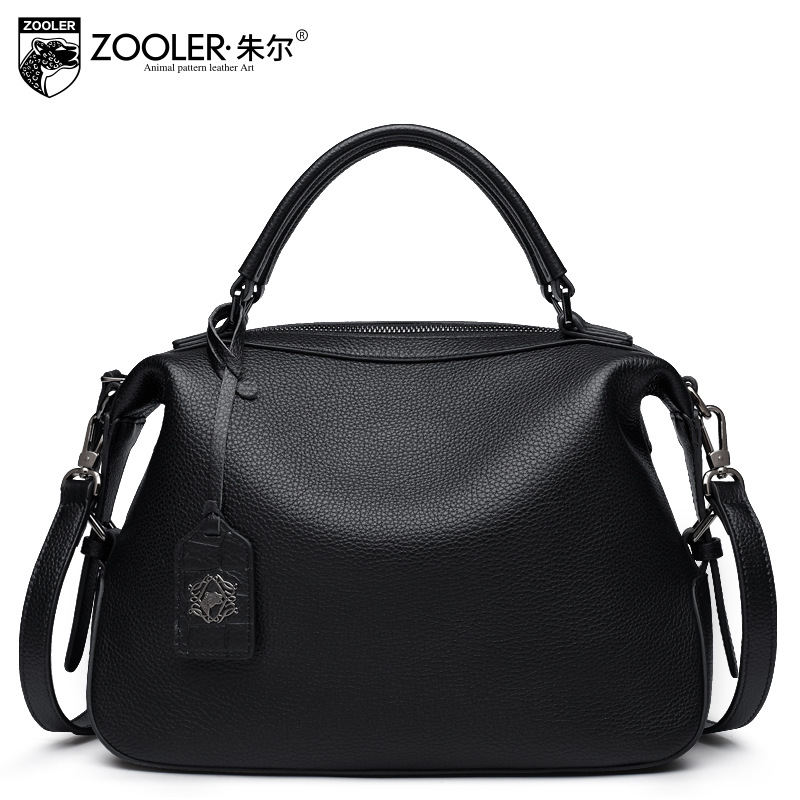 ZOOLER Brand Fashion Handbags Genuine Leather Embossed Pillow Bag Ladies Casual Real Leather Handbag Tote Bags Bolsas Sac A Main joyir fashion genuine leather women handbag luxury famous brands shoulder bag tote bag ladies bolsas femininas sac a main 2017