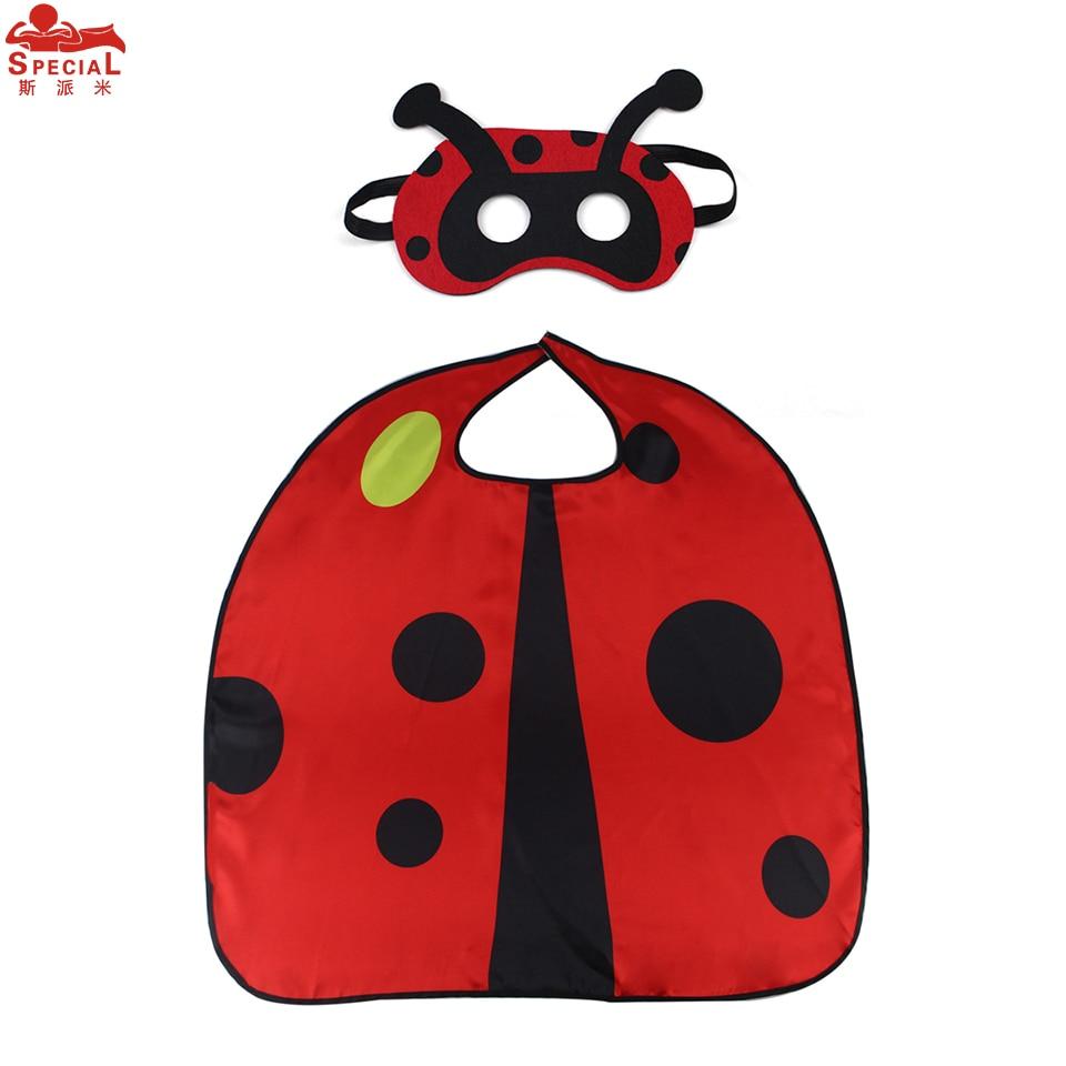 3-8 Y.O SPECIALE Lichtgewicht Lady Bug Cape en masker Cosplay Animal - Carnavalskostuums