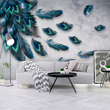 Photo Wallpaper Modern Fashionable Color Hand Painted Feather Murals Living Room TV Sofa Bedroom Study Home Decor Wall Paper 3 D forest wallpaper for walls custom modern 3 d photo wallpaper 3 d living bedroom sofa tv background garden wall murals home decor
