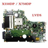 X550DP X750DP LVDS interface mainboard For ASUS X750D X550D K550D K550DP Laptop motherboard Tested Working 90NB01N0 R00010