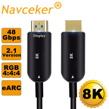2019 8K HDMI 2,1 Cable 48Gbps 4K @ 120Hz HDMI 2,1 de fibra óptica macho a macho de 2,1 Cables HDMI UHD HDMI 2,1 Cable 5m 10m para DVD TV(China)