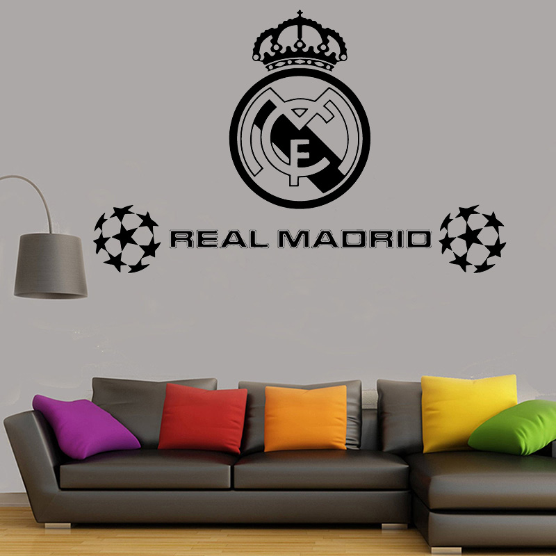 Personalised Blasting Football Soccer Ball Vinyl Wall Art Stickers//Decals