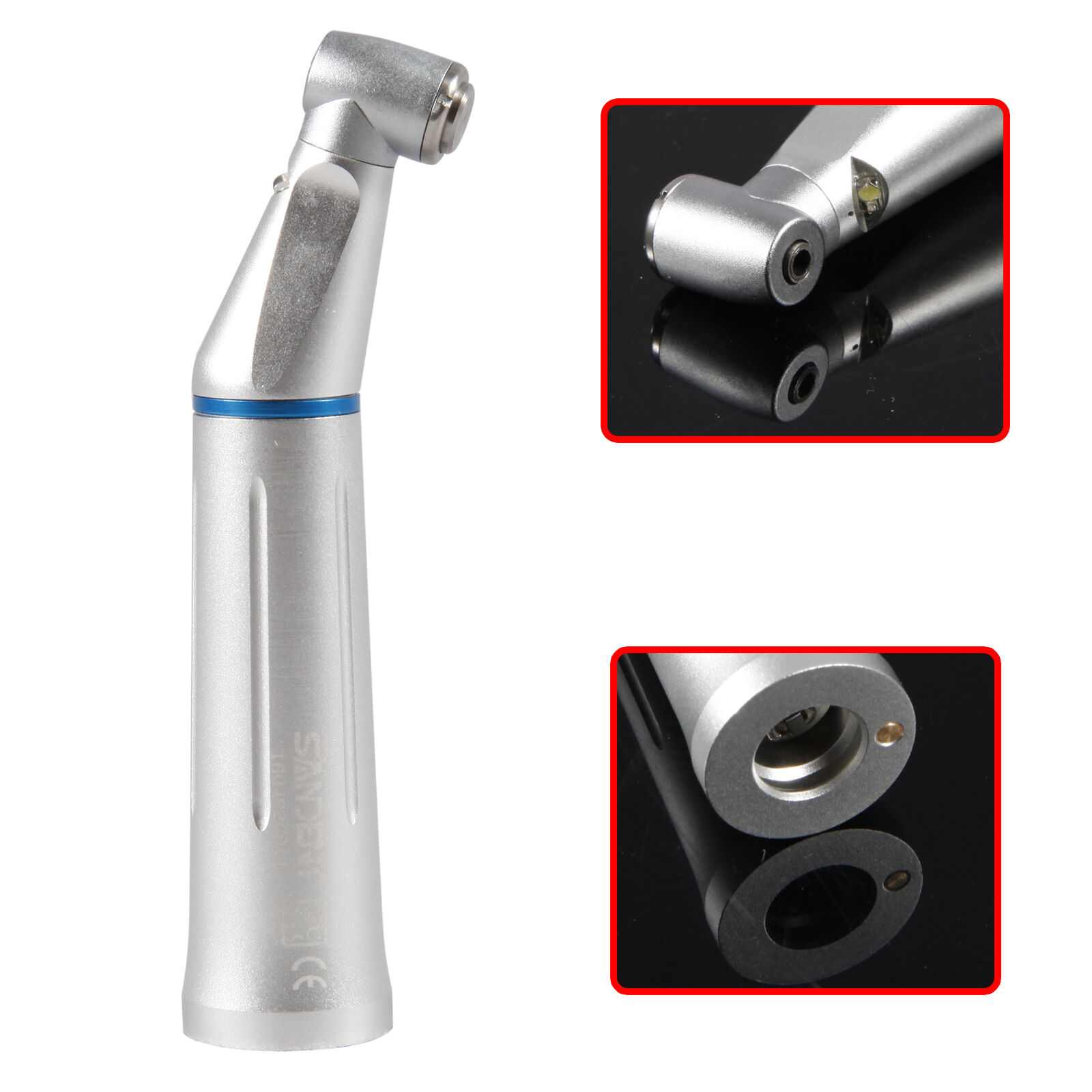 Dental LED Slow Low Speed Fiber Optic Contra Angle Handpiece Inner Water THYDental LED Slow Low Speed Fiber Optic Contra Angle Handpiece Inner Water THY