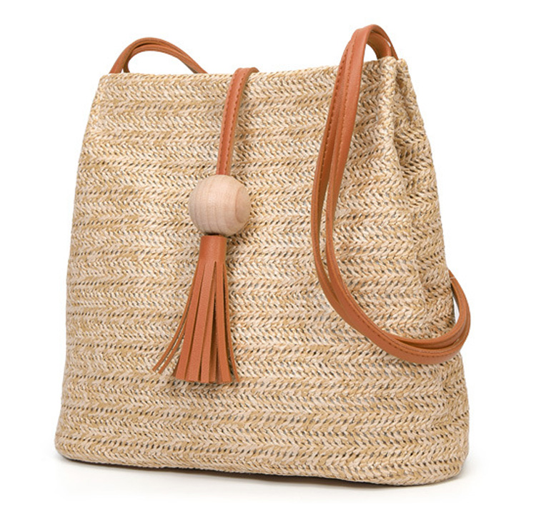 Detail Feedback Questions about Bali Vintage Handmade Crossbody Leather Bag  Round Straw Beach Bag Girls Circle Rattan bag Small Bohemian Shoulder bag  on ... 10d2c61a0662