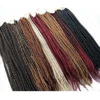 Pervado Hair Low Temperature Fiber Synthetic 3s Box Braids Hair Extensions 14 18inch 22strands Pack African
