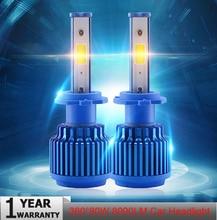 Elglux Car LED Headlight Lights H7 H1 9006 Car Headlights 72W 8000LM 6000K Auto Headlamp Flasher Motos Fog Lights
