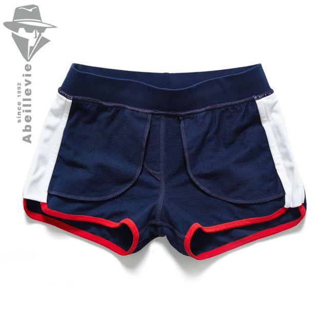 Abeillevie New Fashion Cotton Casual Men's Shorts Summer Trunk Comfort Homewear Loung Shorts Soft Leisure Men Jogger Short PF074