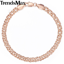 Trendsmax Women's Bracelet Light Rose Gullfylt Venitian Chain Bracelet For Women 5mm 18-23cm KGB428