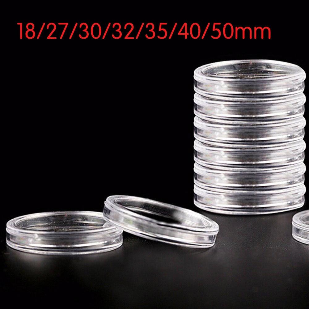 10 Crystal Clear Tubes For Half Dollar Coin Safe Storage High Quality Harris USA