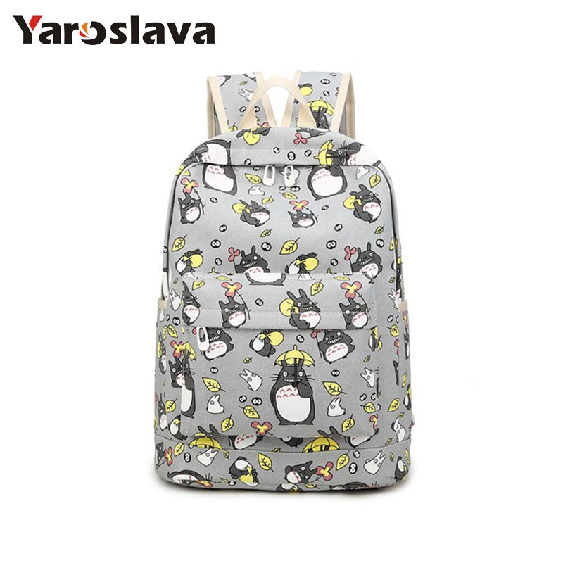 2018 new fashion Women Totoro Backpack travel  women mochila School space backpack notebook girls backpacks LL22 sosw fashion anime theme death note cosplay notebook new school large writing journal 20 5cm 14 5cm