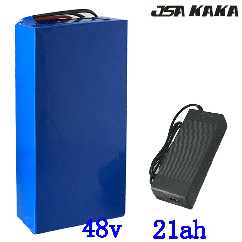 Batterie de vélo électrique haute puissance 2000 W 48 V 20AH 48 V 20AH batterie de vélo électrique 48 volts avec chargeur 50A BMS 2A